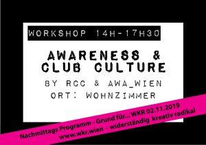 Awareness & club culture @ Wohnzimmer