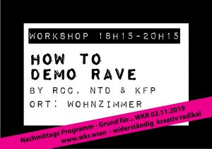 how to demo rave @ Wohnzimmer
