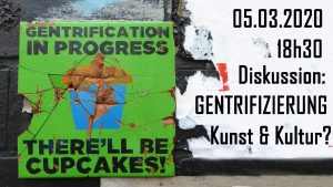 Diskussionsveranstaltung Gentrifizierung @ Wolke, Kern C, 4.Stock