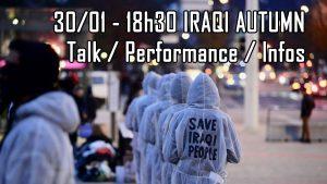 Iraqi Autumn: Performance / Talk / Informationen zur Revolution im Irak @ Wolke, Kern C, 4.Stock