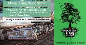 Podiumsdiskussion: Klima, Krise, Widerstand – Perspektiven & Strategien der Klimabewegung @ Wolke, Kern C, 4.Stock