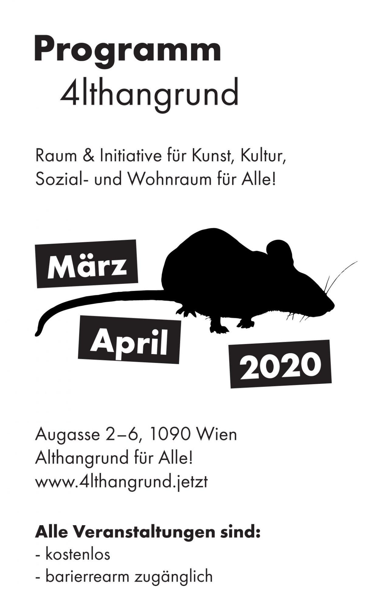 Monatsprogramm März & April 2020